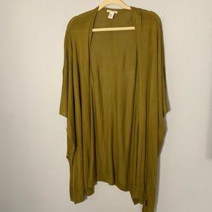 H&M long green oversized cardigan M/L